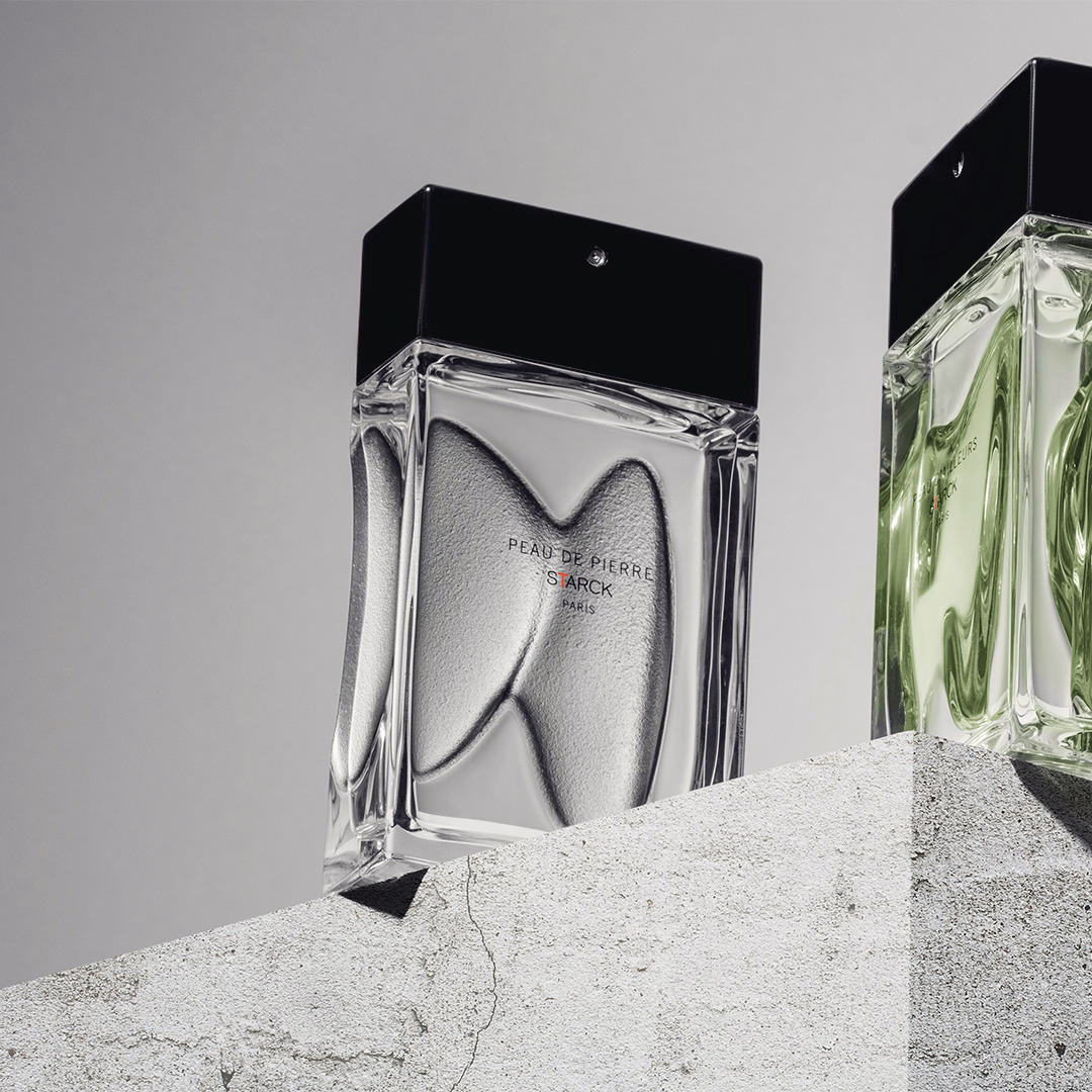 The Starck Paris Peau perfume collection. Their creator, Phhilippe Starck tells an extraordinary story that transports us to another world. @starck #StarckParis #Starck #PhilippeStarck #PeauDePierre #PeauDAilleurs