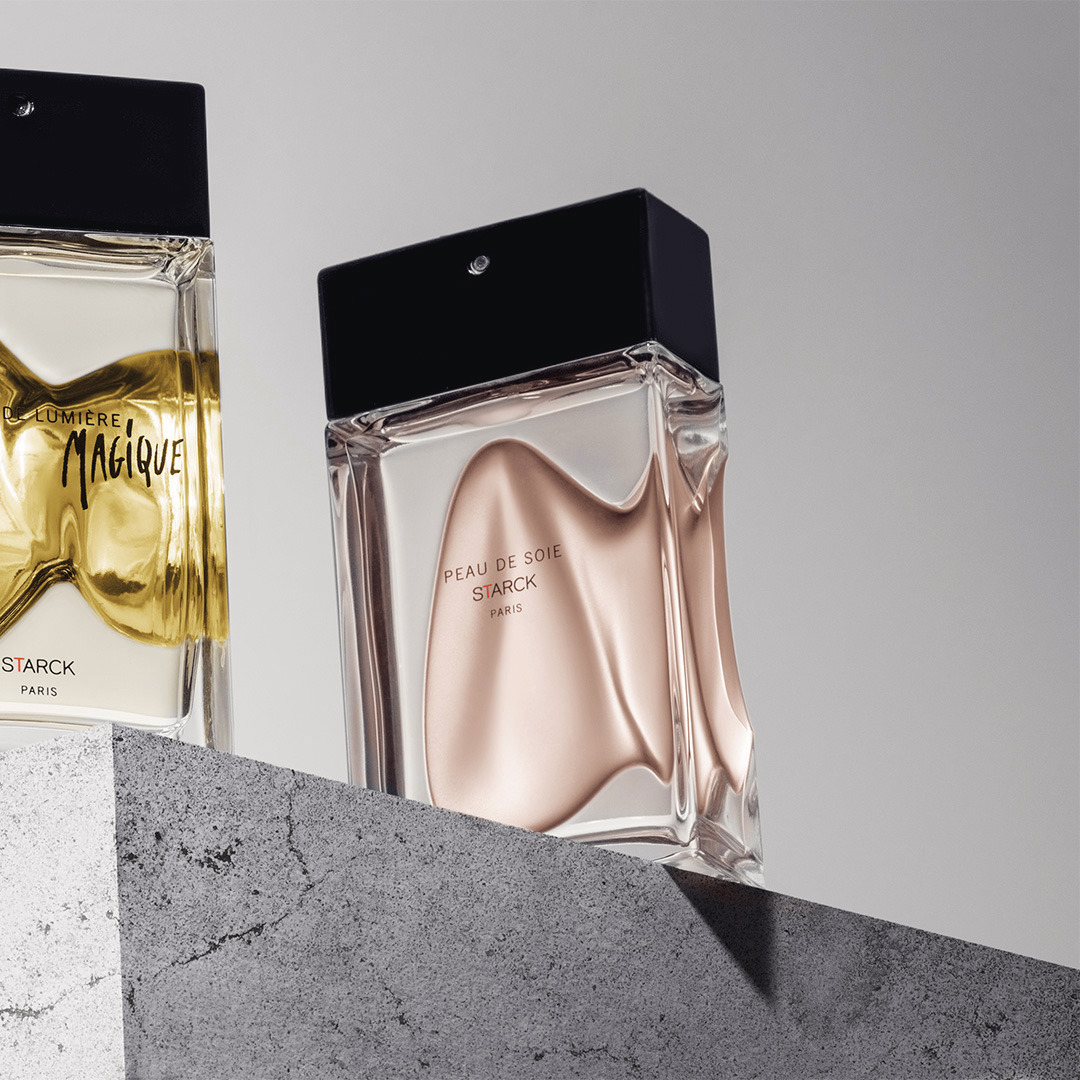 The Starck Paris Peau perfume collection. Their creator, Phhilippe Starck tells an extraordinary story that transports us to another world. @starck #StarckParis #Starck #PhilippeStarck #PeauDeLumiere #PeaudeSoie