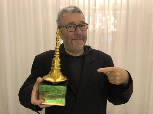 "Philippe Starck receives ""Lifetime Achievement award"" at the India Design Forum"