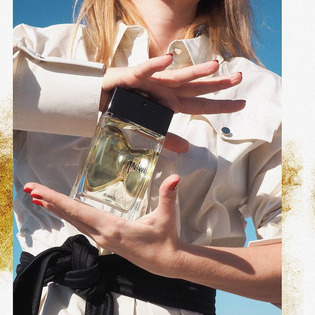 """I love the idea of a perfume, it tells a story, an extraordinary story that transports us to another world."" Ph.S  @starck Photo by @stylelove #StarckParis #Starck #PhilippeStarck #PeauDeLumiere #MaLumiereMagique"