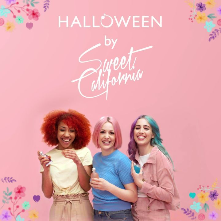Nueva colaboración con Halloween by @sweetcalifornia Las integrantes del grupo musical español @soniasweetc @tamysweetc y @albasweetc han creado un diseño edición limitada de Halloween Edt., Halloween Blue Drop y Halloween Magic. ¡Ya está disponible en perfumerías! *En exclusiva en España  #HalloweenSweetie #HalloweenPerfumes
